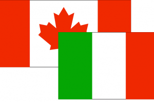 Divorce between Canadian and Italian nationals.